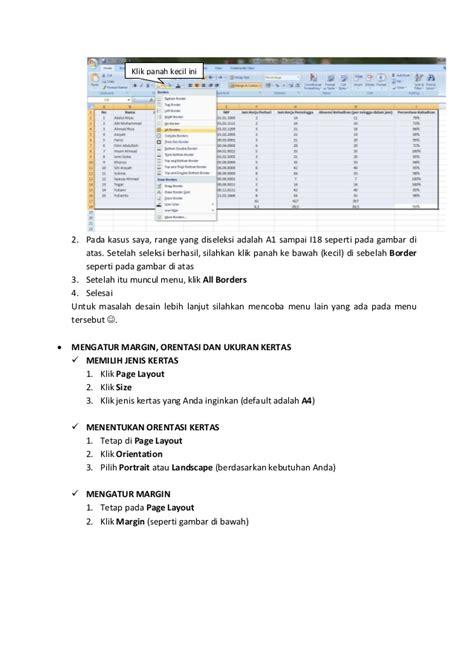 tutorial excel dasar tutorial dasar excel 2007