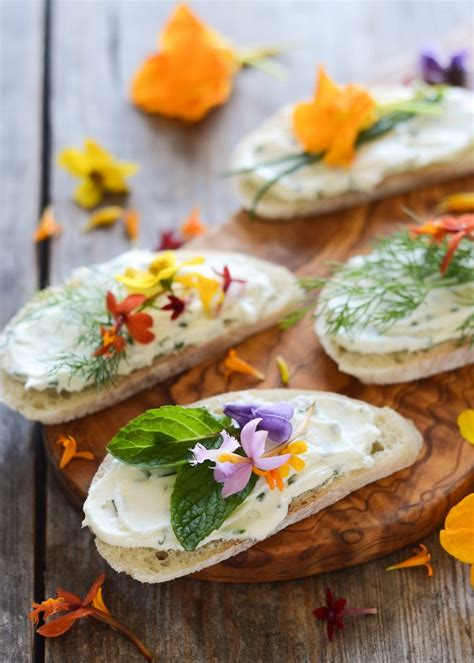 design love fest salmon burgers 25 ways to put edible flowers on the table the view