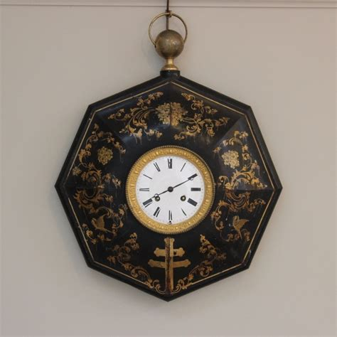 weird clocks unusual 19th century french tin tole wall clock rugs