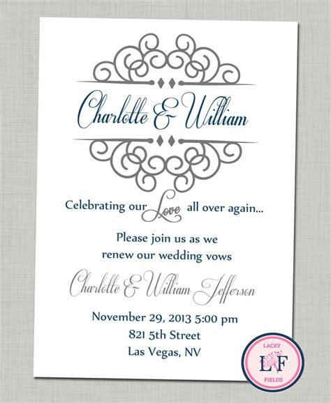 Celebrating our love printable invite  anniversary party