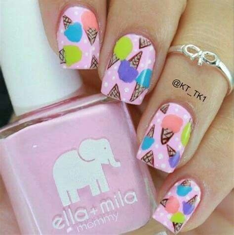 nail art ice cream tutorial ice cream cone nail art pictures photos and images for