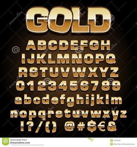 gold pattern font vector gold font stock vector illustration of