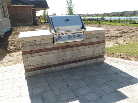 Houzz Kitchen Islands Paving Stone Patio With Built In Bbq And Fireplace