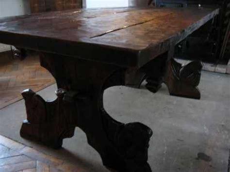 Green Bookshelf John Howe Inspired Carved Green Oak Table Medieval Fantasy
