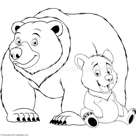coloring page bear cub asia black bear cub mammals bears coloring pages for kids