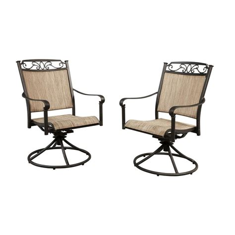rocker patio chairs hton bay santa swivel rocker patio dining chair