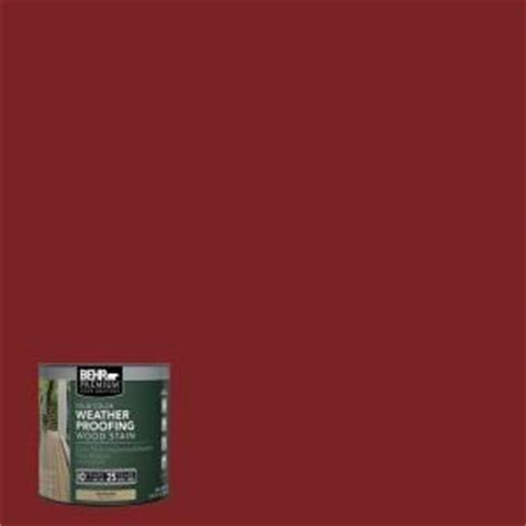 behr premium 8 oz sc112 barn solid color weatherproofing all in one wood stain and sealer