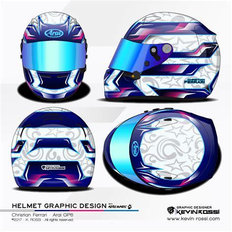 helmet design experiment christian ferrari helmet design project on arai gp6