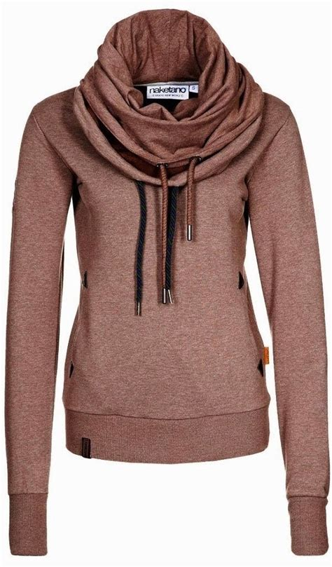 Sweater Hoodie The Amazing 2 adorable comfy naketano sweatshirt scarf and a hoodie in one