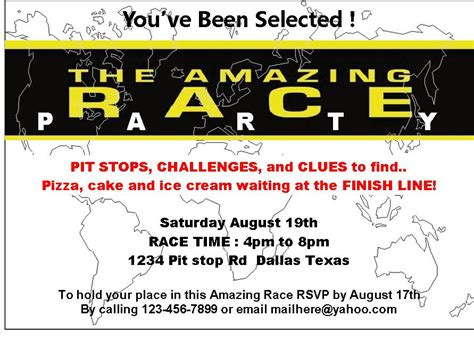 Amazing Race Printables Review Concert Katie Amazing Race Editable Templates Free