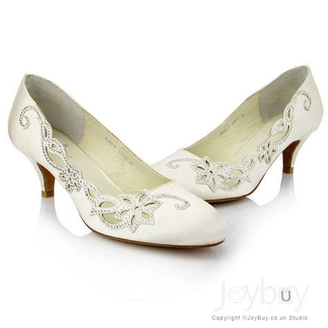Low Bridal Shoes by Wedding Shoes Low Heel Rhinstone Low Heel Wedding