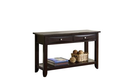 Espresso Entryway Table 17 On Zuko Espresso 2 Drawer Contem Groupon Goods