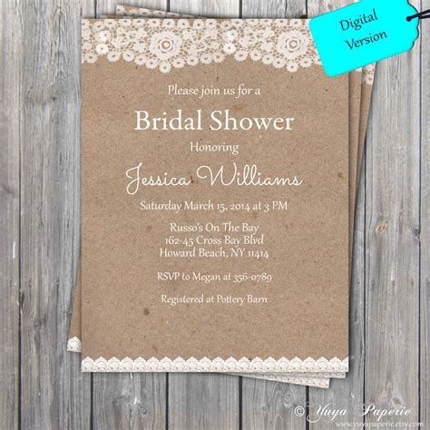 free printable bridal shower invitations rustic free rustic wedding shower invitation templates yaseen for