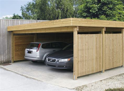 Garage With Carport by Tuinhuizen Carports Horta