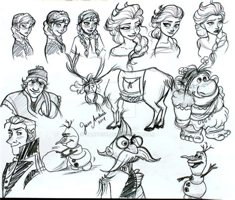 doodle character doodle frozen characters by jardc87 on deviantart