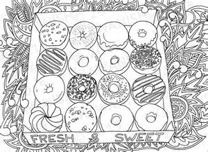coloring pages for adults food donuts doughnuts coloring page gift wall by