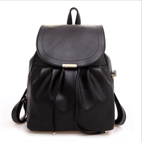 bags for school popular black leather backpack purse buy cheap black