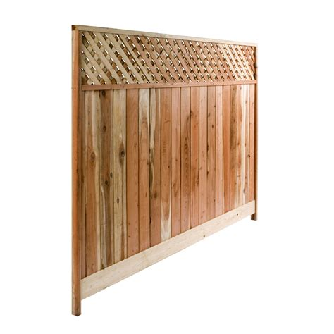 Small Lattice Fence Panels Shop 8 Ft X 6 Ft Redwood Lattice Top Wood Fence Panel At