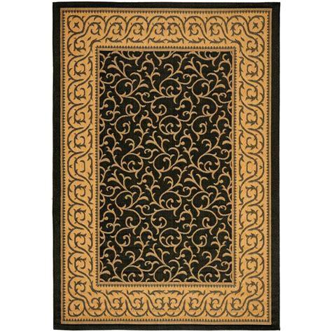 safavieh cy6014 46 courtyard indoor outdoor area rug black lowe s canada safavieh courtyard black 9 ft x 12 ft indoor outdoor area rug cy6014 46 9 the home depot