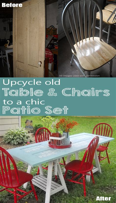 Turn Into Outdoor Furniture by How To Turn An Door And Chairs Into Chic Diy Patio Set
