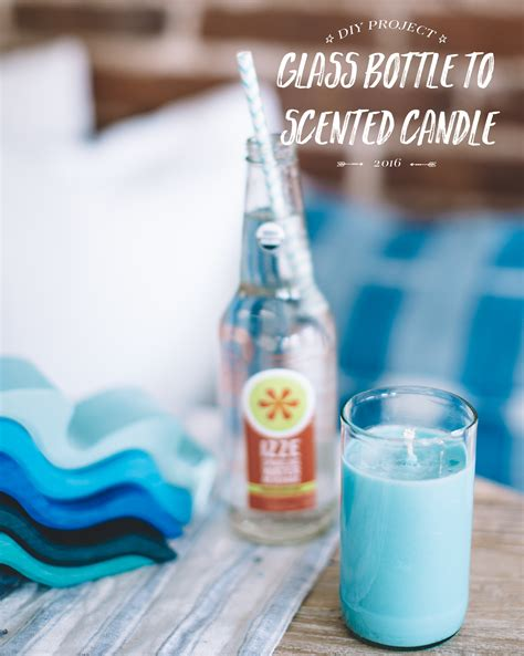 glass bottle diy diy glass bottle scented candles bright bazaar by will