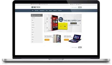 wordpress free hi tech themes ws tech free responsive hi tech store woocommerce
