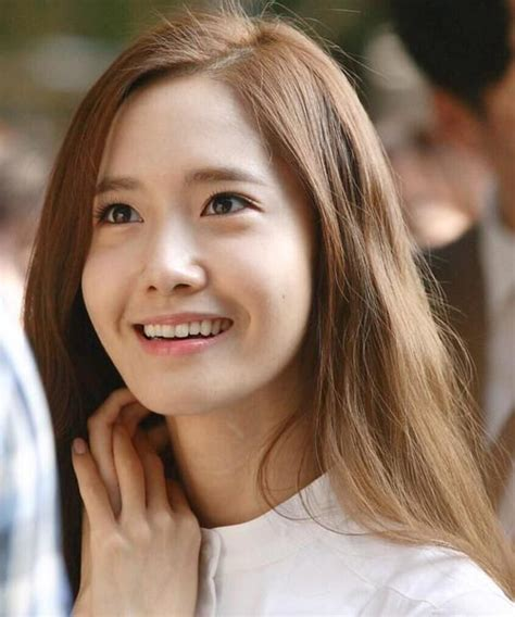 popular hair colour for korean yoona snsd long straight hairstyle brown color korean
