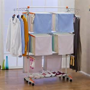 Hanging Clothes Dryer Rack Badoogi Clothes Drying Rack System Premium Collapsible