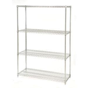 seville classics 4 shelf steel wire shelving system in