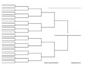 Empty Bracket Template by Free Printable 32 Team Tournament Bracket Wide Version