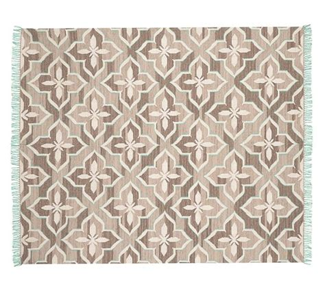 Pottery Barn Kitchen Rugs Indoor Outdoor Rug Brown Turquoise Pottery Barn