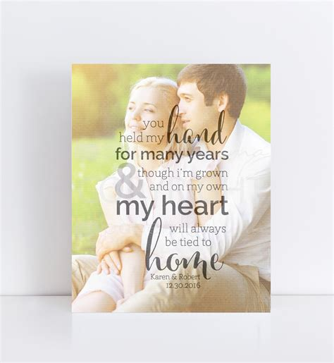wedding for you thank you parents wedding personalized photo quote
