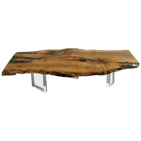 Center Table Coffee Table Coffee Table Desk Or Center Table In Maple With Crystals And Gemstones For Sale At 1stdibs
