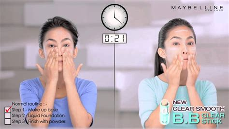 Makeup Maybelline Malaysia maybelline clear smooth bb stick quot how to quot in 1 minute