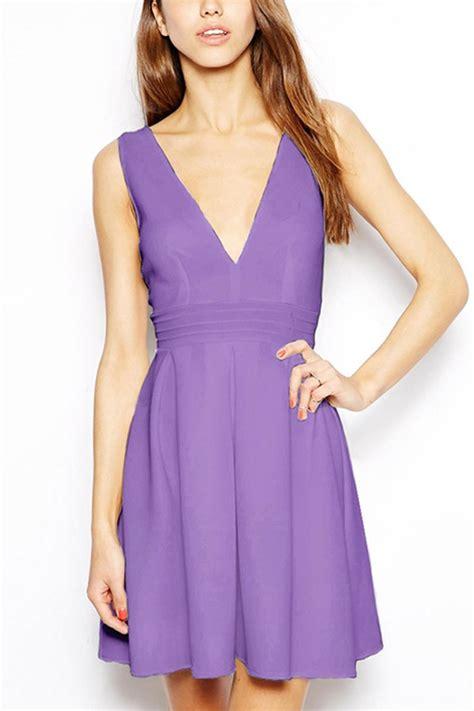 light purple dress casual light purple high waist pleated casual dress 011932