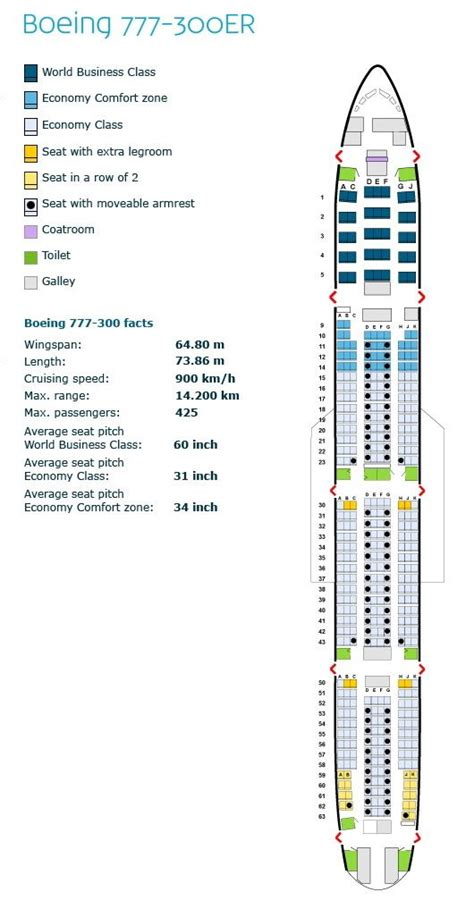 charter seating chart klm royal airlines boeing 777 300er aircraft seating