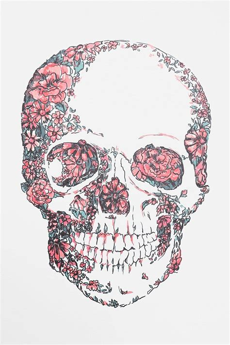 wallpaper skull flower floral skull wall decal iphone backgrounds pinterest