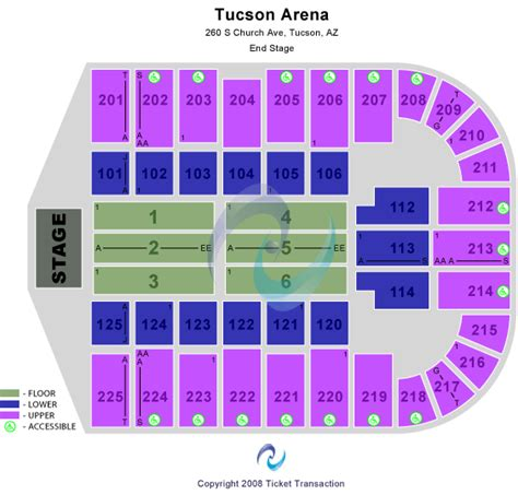 Tucson Convention Center Box Office by Concert Tickets Seating Chart Tucson