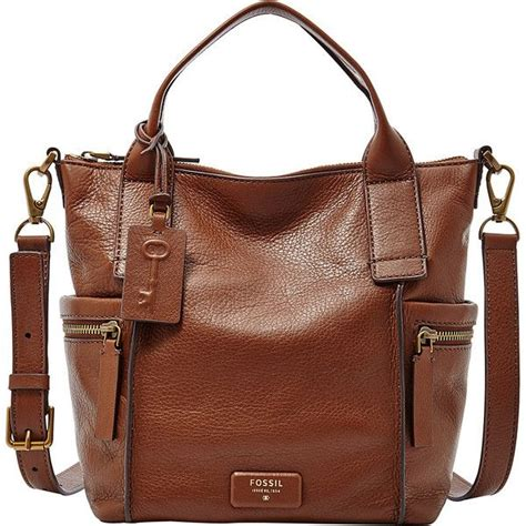 Tas Fossil Emerson Smokey Blue Large brown leather handbags handbag ideas