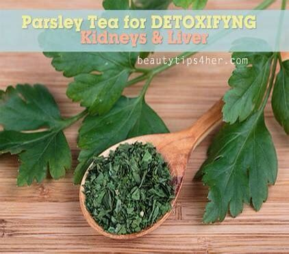 Kidney Detox Tea Parsley by Parsley Tea For Detoxifying Kidneys And Liver For A