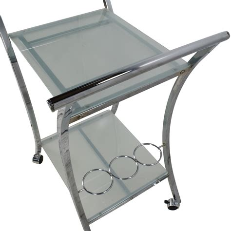 89% OFF   Rolling Food Serving Cart / Tables
