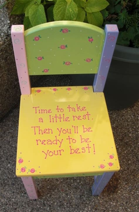 Toddler Time Out Chair by Painted Childrens Chair Time Out Chair