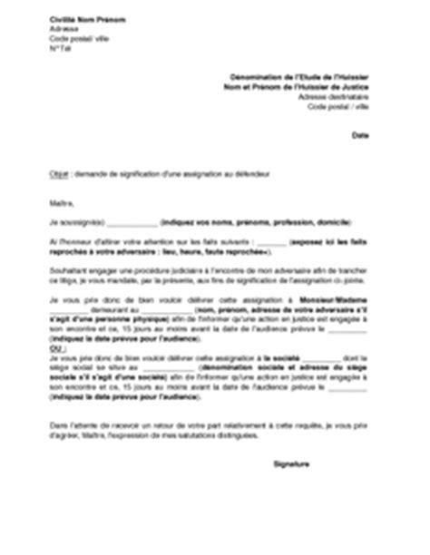 Assignation Tribunal D Instance Modèle
