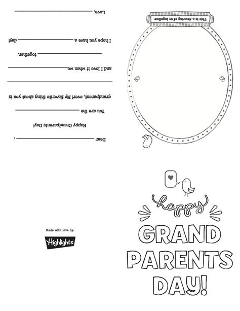 grandparents card template 26 best images about grandparents day on send