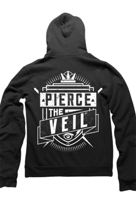 Hoodie Zipper Veil Of Logo Fightmerch the veil merch store banner zip up hoodie