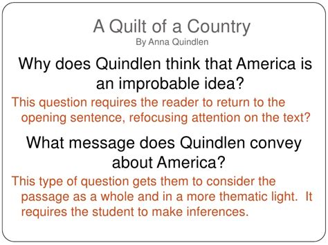 A Quilt Of A Country By Quindlen language arts common shift 4 6