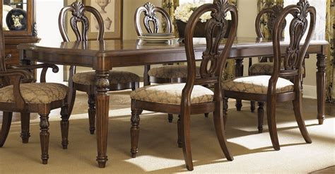 black wood dining room set piece 108x44 dining room set in cognac dark wood