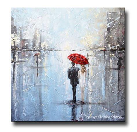 Kaos Umbrella Boy Grey 1 original abstract painting umbrella contemporary by christine