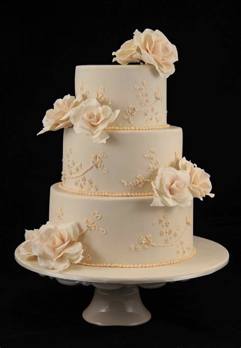 Wedding Cakes Roses by Bakerz Wedding Cake