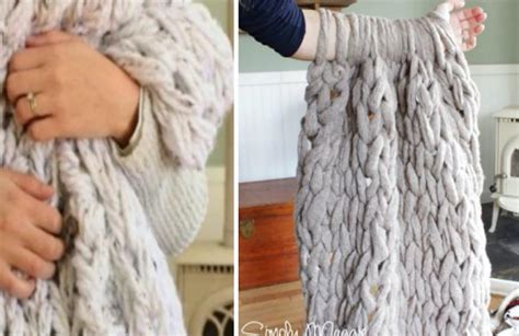 printable arm knitting directions arm knit blanket tutorial easy diy pattern video instructions